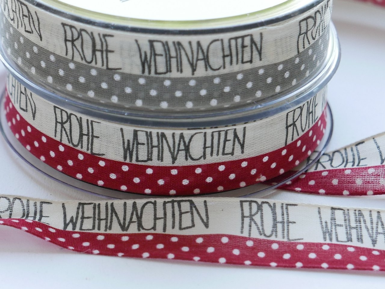 Band *Sweet X-mas* taupe oder rot, 5m